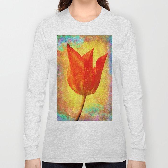 Textured Tulip Long Sleeve T-shirt