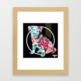 BRAD PITT-BULL Framed Art Print