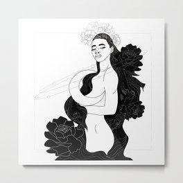 Dreaming girl Metal Print
