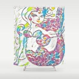 Fairy Tale Mermaid Shower Curtain