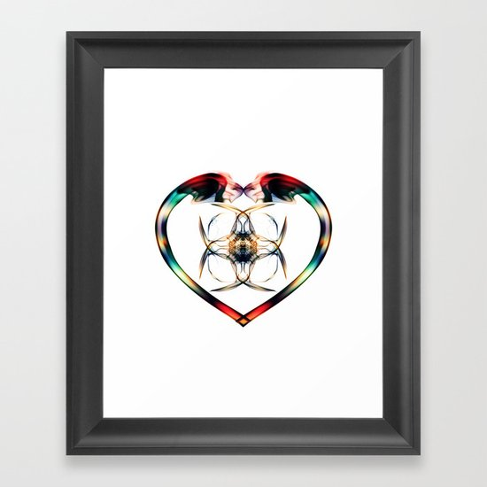 Smoke HeART 3 Framed Art Print