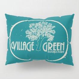 Village Green Bookstore Tan on Green Pillow Sham