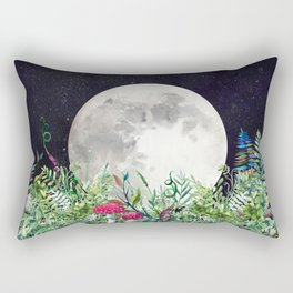 Night Garden Moon Magick Rectangular Pillow