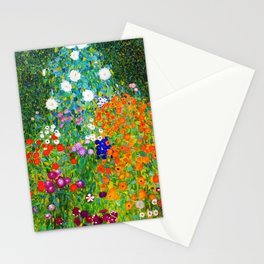 "Gustav Klimt "" Farmer's Garden "" Stationery Cards"