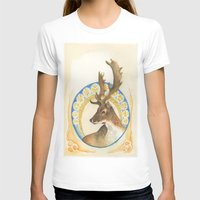 antlers T-shirts featuring Antlers  by Lauren Ellie Johnson