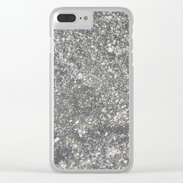 The surface of the granite stone. Clear iPhone Case