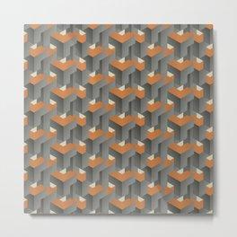 Burnt orange on concrete Metal Print