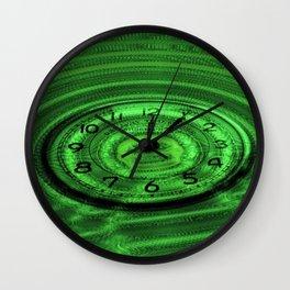 Hands of Time Light-Green Rippling Water Art Motif Wall Clock