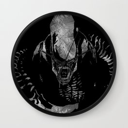 Aliens Here Wall Clock