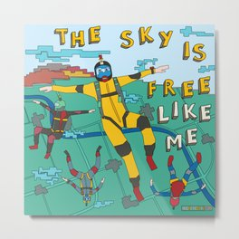 Skydive in the sky Metal Print