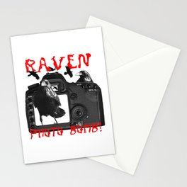 Raven Photo Bomb! Stationery Cards