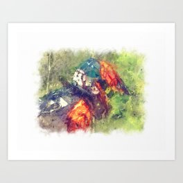 The Starting Gate - Motocross Champion Rider Prepares to Race Art Print