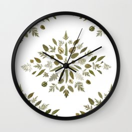 Collage of Leaves Wall Clock