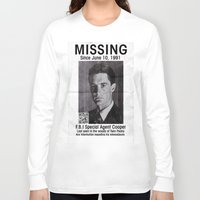 dale cooper Long Sleeve T-shirts featuring Missing Dale Cooper ... 2016 by Allelujah