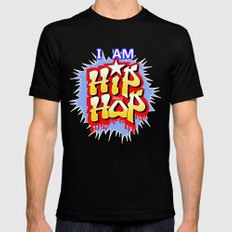 HIP-HOP SMALL Black Mens Fitted Tee