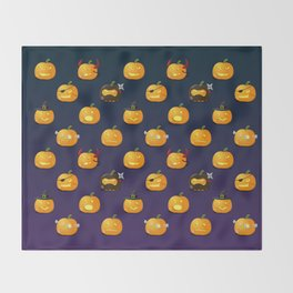 Halloween Jack-o'-lantern Throw Blanket