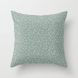 PolkaDots-Mint on Juniper Throw Pillow