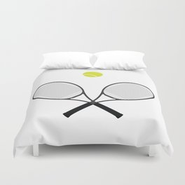 Tennis Racket And Ball 2 Duvet Cover