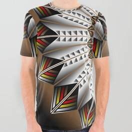 Feather Design All Over Graphic Tee