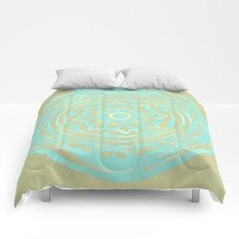 flower power: portobello aqua & olive Comforters