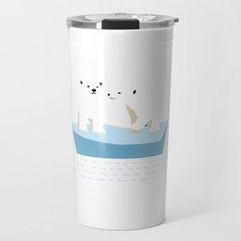 Cute Polar Bear Fan Arctic Antarctic Animal Zoo Snow Bear Lover Gift Travel Mug