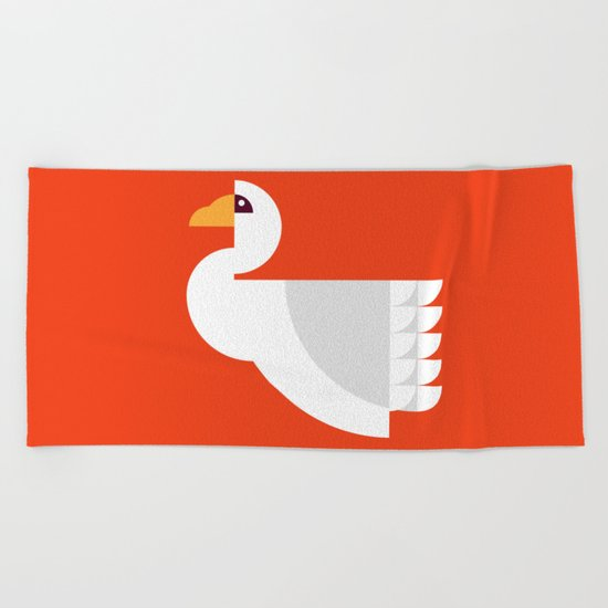 Geometric swan Beach Towel