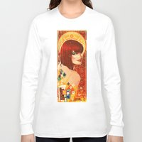 klimt Long Sleeve T-shirts featuring KLIMT GIRL by Lorena Carvalho