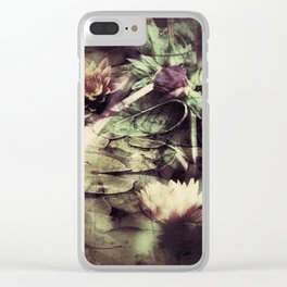 Water Lilies Clear iPhone Case