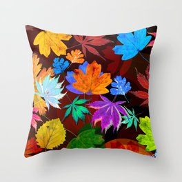 Leaves-001 Throw Pillow
