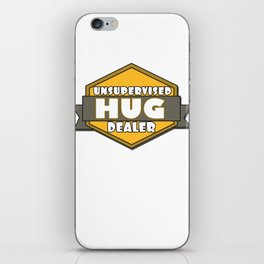 This is the best and funniest tee shirt that's perfect for you HUG DEALER iPhone Skin