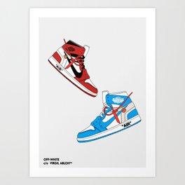 Off White Air x Jordan 1 Poster Art Print