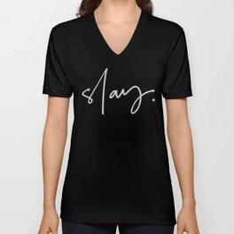 Slay (black) Unisex V-Neck