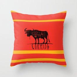 bullfighting corrida Throw Pillow