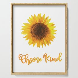 Sunflower choose kind Awareness Autism Serving Tray