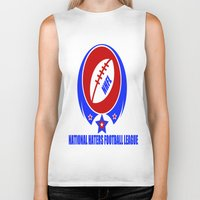 league Biker Tanks featuring FOOTBALL LEAGUE  by Robleedesigns