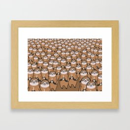 sloth-tastic! Framed Art Print