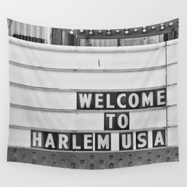 Welcome to Harlem Wall Tapestry