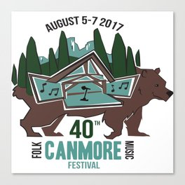 Canmore Folk Festival 40th Anniversary Canvas Print