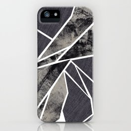 black and white flower iPhone Case