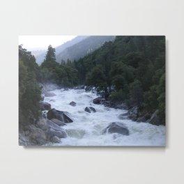 Yosemite Raging River Metal Print