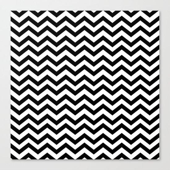 Keep Calm And Dream On (Zig Zag Chevron Black Lodge Floor, Twin Peaks) Canvas Print
