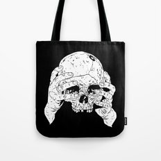 Skull In Hands Tote Bag