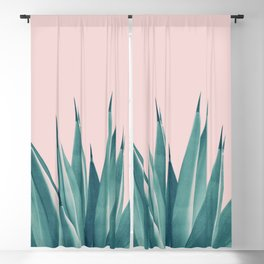 Blush Agave Dream #1 #tropical #decor #art #society6 Blackout Curtain
