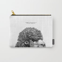 """TypoAnimal - """"Sheep happens!"""" Carry-All Pouch"""
