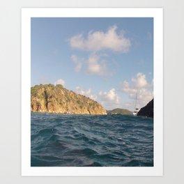Caribbean, Rock Formation, Indians, Brittish Virgin Islands Art Print