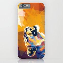 In the Sunlight - Lion portrait, animal digital art iPhone Case