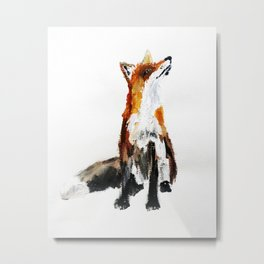 Woodland Fox (reverse edit) Metal Print