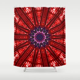 Red Star Kachina Shower Curtain