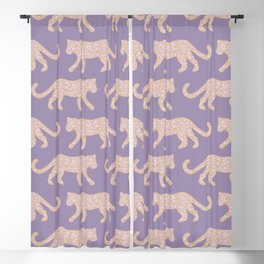 Kitty Parade - Pink on Lavender Blackout Curtain