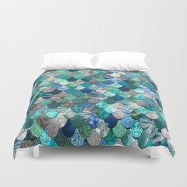 Mermaid Pattern, Sea,Teal, Mint, Aqua, Blue Duvet Cover